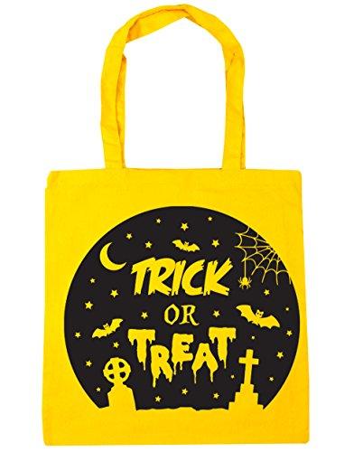 HippoWarehouse truco o trato Halloween Tote Compras Bolsa de playa 42cm x38cm, 10litros amarillo