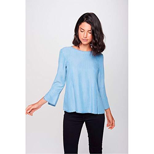 3561db6eb Blusa Jeans Feminina Tam  M Cor  BLUE