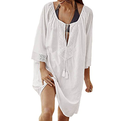 Bestyou Womens Rayon Tops Plus Size Tunic Cover Ups For Swimwear