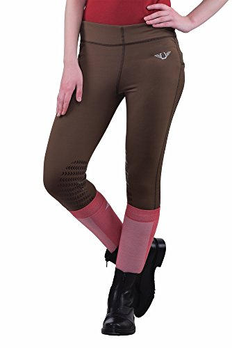 TuffRider Women's Ventilated Schooling Tights, Chocolate/Chocolate, Small Tuffrider Tights