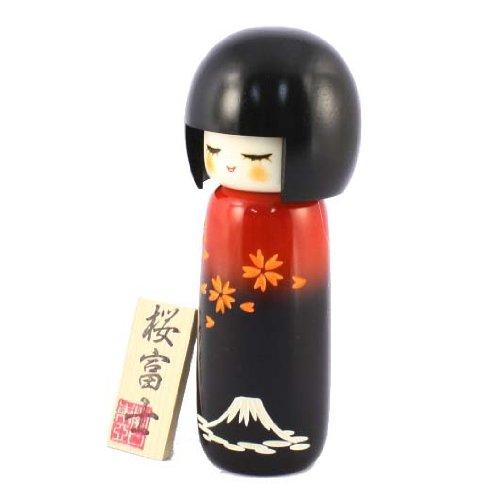 Kokeshi Doll–Sakura & Fuji JAPAN CRAFT