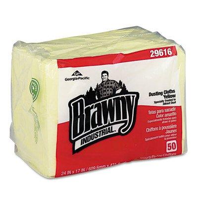 Brawny Industrial Dusting Cloths, Yellow by Brawny (Image #1)