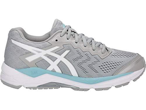 ASICS Women's Gel-Fortitude 8 Running Shoes, 12M, MID Grey/White/Porcelain Blue