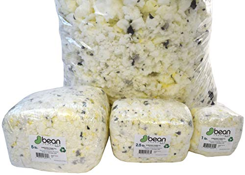 5 lbs - Shredded Foam - New Recycled Fill for Bean Bags - Pet Beds - Pillows - Made in The USA by Bean Products, Chicago