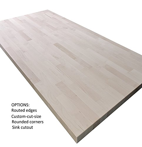 "Allwood 5/4"" (1.25"") x 30"" x 47"" Birch Table/Counter/Island Top see all edge options (Classic Roman Edges)"