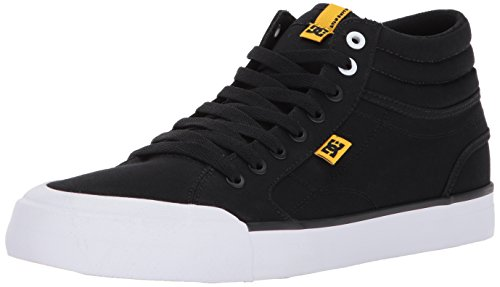 DC Men's Evan Smith HI TX, Black/White/Yellow, 7.5 D US