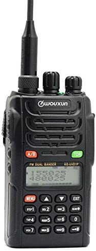 Wouxun KG-UVD1P VHF UHF Dual Band Two Way Radio Black