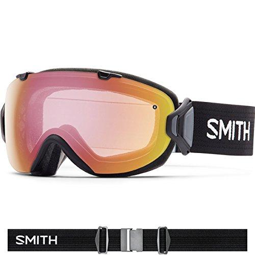 Smith Optics I/OS Women's Interchangable Series Ski Snowmobile Goggles Eyewear - Black/Photochromic Red Sensor/Medium -