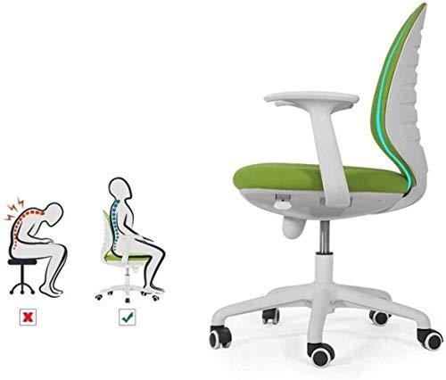 Xiuyun svängbar stol – hem kontor stol spelstol konferensrum stol skrivbord uppgift dator nät stol: Ergonomisk ländrygg stöd justerbar lutning mitt bakhjul