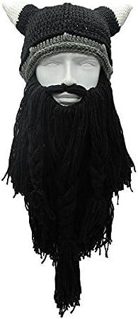 Taglia unica Aolvo taglia unica con barba stile saccheggiatori barbari berretto con barba in stile vichingo Cappello originale Coffee