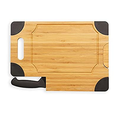 Picnic Time Culina Cutting Board - Natural Wood with Black Accents