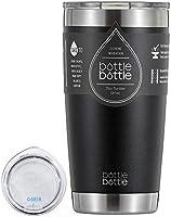 タンブラー 20oz 3色 真空 断熱 保温 水筒 ボトル ステンレス フタ付き 学生 女性 男性 パプールbottlebottle