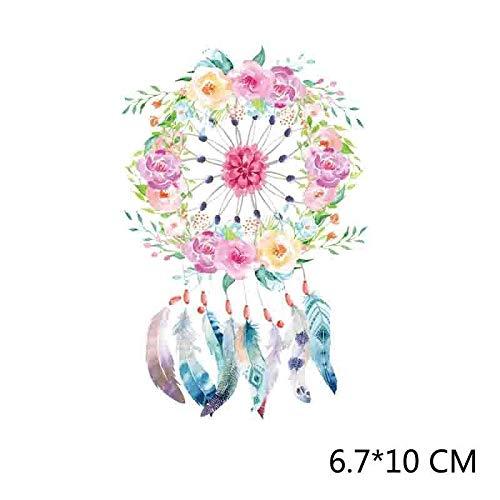 piokikio Flowers Tassel Pattern Pyrograph DIY T-Shirt Craft Stick Patch Decorative