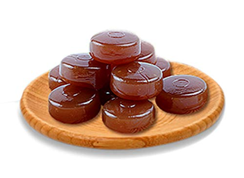 OUZ123 Guangdong Specialty Honey Refining Loquat Hard Candy Moisturizing Throat Mi Lian Pi Pa Run Hou Tang 蜜炼枇杷糖, 40g/1.41oz × 2 Boxes