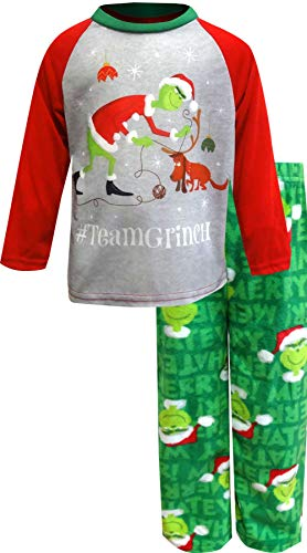The Grinch Boys' Dr. Seuss TeamGrinch Toddler Pajamas (4T) Green ()