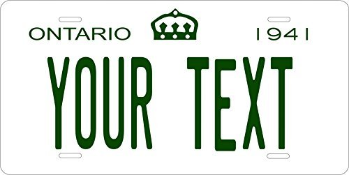 Canada 1941 Personalized Tag Vehicle Car Moped Bike Bicycle Motorcycle Auto License Plate (Ontario Car License Plate)