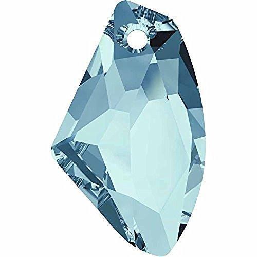 6656 Swarovski Pendant Galactic Vertical | Aquamarine | 27mm - Pack of 30 (Wholesale) | Small & Wholesale Packs -