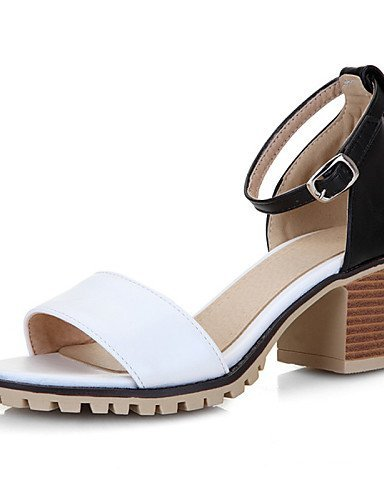 Sandals Toe Women's Casual Office ShangYi White Dress Beige Career Black Open Black Pink Heel Shoes amp; Chunky qdYdxPXF