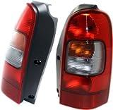 Evan-Fischer EVA15672055402 Tail Light Set of 2 Passenger & Driver Side Plastic lens OE design Amber, clear, red DOT, SAE approved