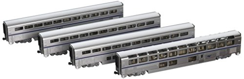 Kato N Scale Superliner 4 Car Passenger Set #B2 Amtrak Phase IVb ()