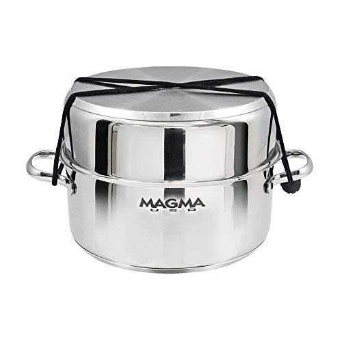 Magma Products, A10-360L-IND, 10 Piece Gourmet Nesting Stainless Steel Cookware Set, Induction Cooktops