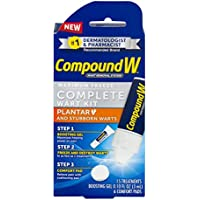 Compound W Complete Wart Kit   Freeze Off Plantar Wart Removal   15 Treatments