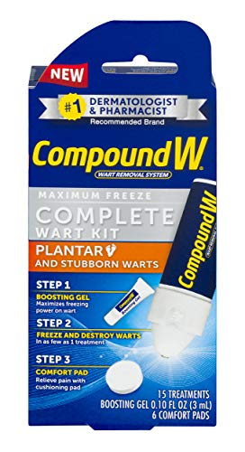 Compound W Complete Wart Kit | Freeze Off Plantar Wart Removal | 15...