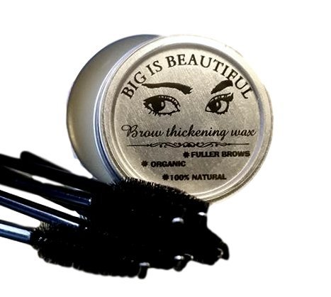 BIG IS BEAUTIFUL! Natural Eyebrow and Eyelash Re-Growth Wax. 100% Organic. Stimulates Hair Growth. Hair Thickening. Made with Orgainc Castor Oil and the Purest Essential Oils. Handmade in the U.S.A.