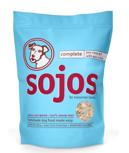 Sojos Complete Natural Grain Free Dry Raw Freeze Dried Dog Food Mix, Turkey, 8-Pound Bag by Sojos Natural Pet Food