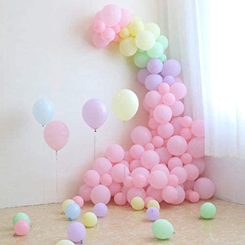 "100pcs 10"" Party Decoration Pastel colour Balloons Macaron Candy Colored Latex Balloons for Birthday Wedding Engagement Anniversary Christmas Festival-Macaron Pink"
