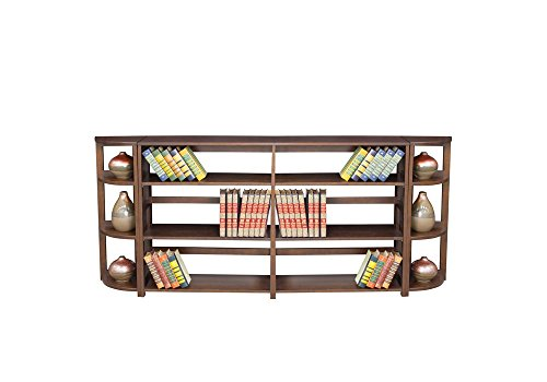 Wood Three-Shelf Folding Bookcase Wall Unit Dimensions: 83