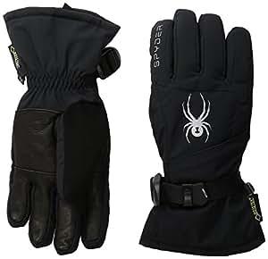 Spyder Synthesis Gore-Tex-Ski Glove, Black/Silver, X-Small