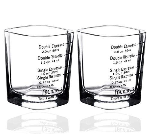 Espresso Shot Measuring Liquid Heavy Glass Cup for Baristas