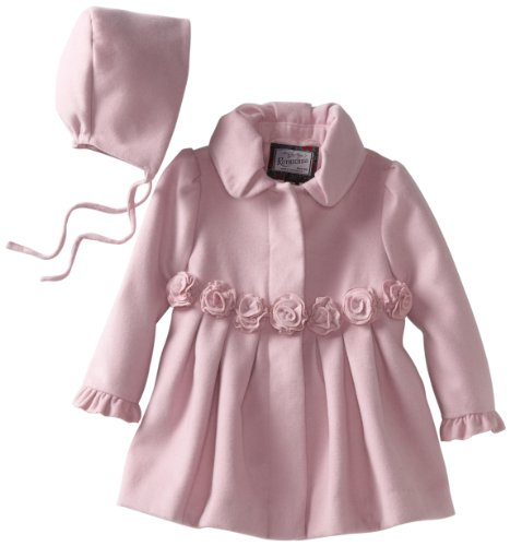 Amazon.com: Rothschild Baby Girls' Dress Coat With Rosettes, Pink ...