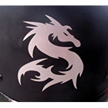 "Reflective Tribal Dragon - 2 1/2"" x 3"" die cut vinyl decal for helmets, windows, cars, trucks, tool boxes, laptops, MacBook - virtually any hard, smooth surface"