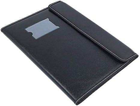 TULMAN PU Leather Multipurpose 40 Sleeve Document File Folder Executive Folder for Certificate A4 Size Document Organizer File – Black
