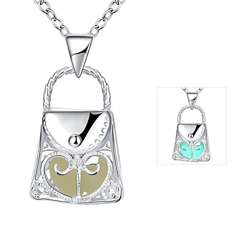 Women 925 Silver Plated Hollow Heart Pendant Necklace + Bracelet + Earrings Jewelry Set - 4