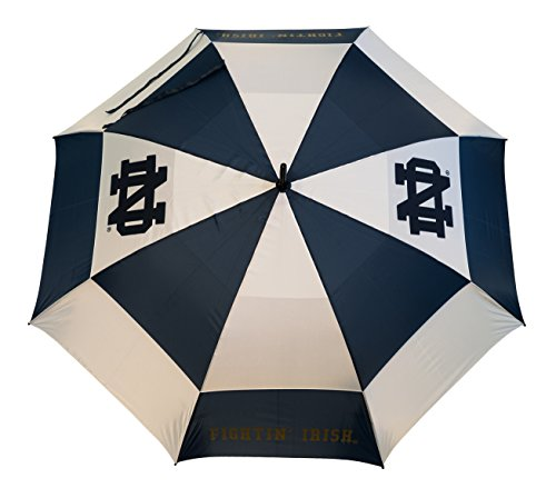 """Team Golf NCAA Notre Dame Fighting Irish 62"""" Golf Umbrella with Protective Sheath, Double Canopy Wind Protection Design, Auto Open Button"""
