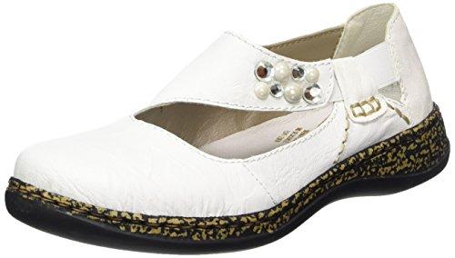 Weiss Mujer Bailarinas para Bianco Rieker Blanco 46370 nRTqwWxHX