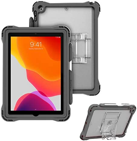 Brenthaven Edge 360 Case Designed for The New Apple iPad 10.2 (7th Gen) for Commercial Business and Office -Gray Durable Rugged Protection from Impact and Compression