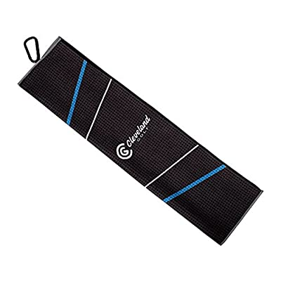 Cleveland Golf 2018 Men's Cg Towel 16x21, Black/Blue/Grey