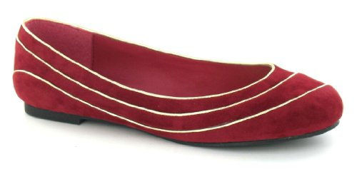 Wine Ladies Spot F8666 On Flats RqOZa1wS7x