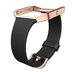 UMTELE Replacement Slim Band for Fitbit Blaze Smart Fitness Watch, Black