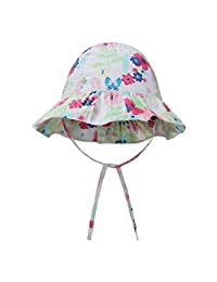 vivobiniya Baby Girl Sun Hats Toddler Girl Sunbonnet Bucket Sun Hats 0-6years Old
