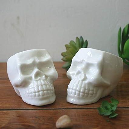 Amazon Wall Of Dragon 1 Pcs New Creative Skull White Ceramic