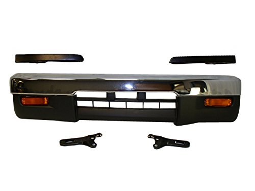 (Bundle 95-97 Tacoma 4Wd Front Bumper Chr Bar Valance Filler Signal Light 8Pcs)