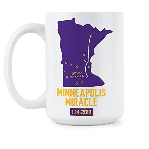 Minneapolis Miracle Gift Minnesota Vikings Coffee Mug Skol Vikings Mugs Vikings Playoffs Cup Gifts
