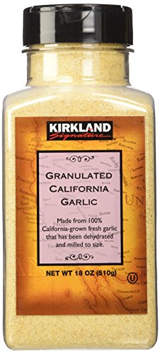 Kirkland Signature Granulated California Garlic, 18 Ounce