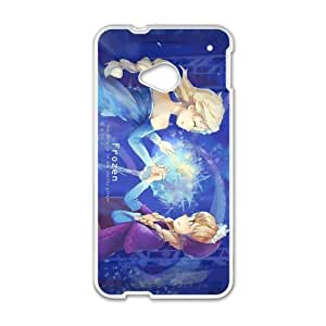Happy Frozen Princess Elsa and Anna Cell Phone Case for HTC One M7