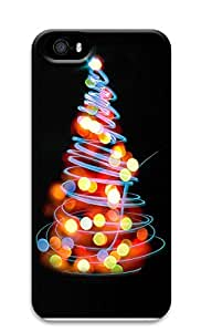 iPhone 5 5S Case Glowing Lights Christmas Tree Illustration284 3D Custom iPhone 5 5S Case Cover
